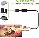 PS2 PS1 PS3 to AV Cable 6ft AV Cable Compatible for