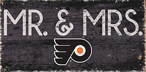 NHL 필라델피아 전단지 UNI 필라델피아 전단지 MR.&MRS.SIGN 팀 색상 6X12