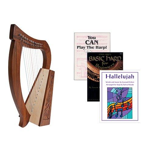 Homeschool Music Baby Harp w/Introduction to Harp Book Bundle + Hallelujah Book by Homeschooling Harps