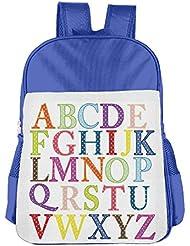 Bing4Bing Childrens School Bags Alphabet Abc Lightweight Backpacks Book Bag