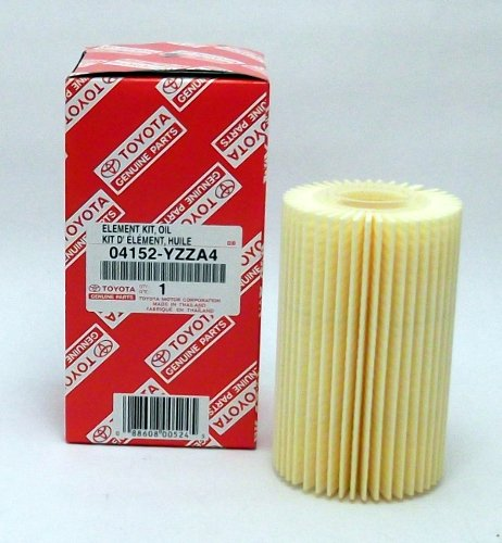 Toyota Genuine Parts 04152-YZZA4 Replaceable Oil Filter Element 1/2 Case (QTY 5)