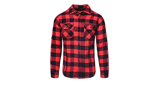 Criminal Damage - Camisa a cuadros para hombre, color rojo y ...
