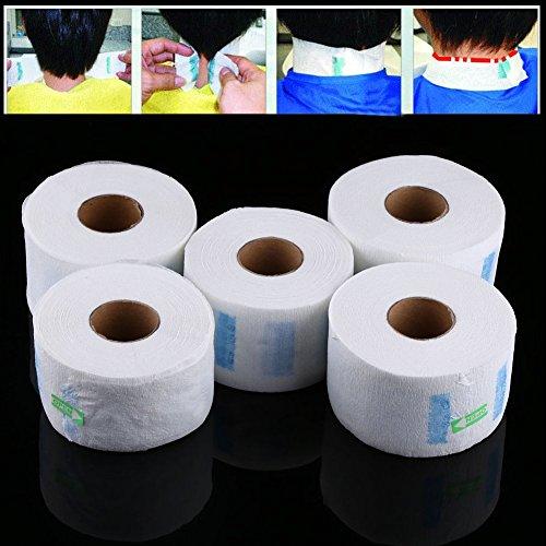 Papel de Cuello, Cuello Guardia Tiras de papel del cuello, cuello de la peluquería Toalla de papel elástico del cuello que cubre para los peluqueros y los ...