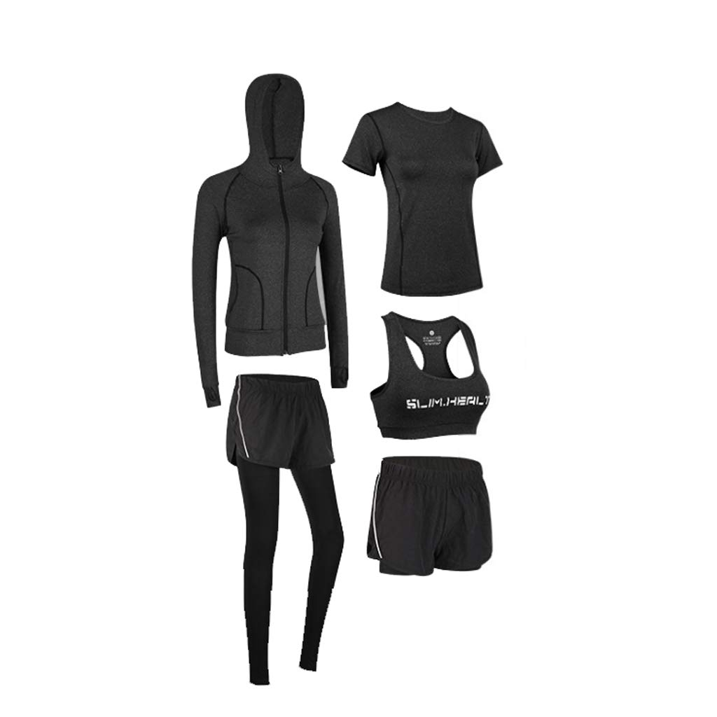 Lilongjiao Sportanzug Fitnesskleidung Laufbekleidung Schnell trocknende Kleidung Yoga Kleidung Sport-BH Strumpfhosen Kapuzenjacke Laufbekleidung Yoga Kleidung Fitness Kleidung