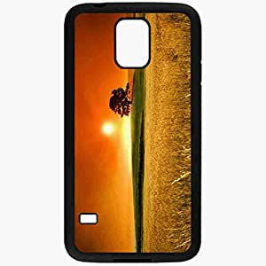Unique Design Fashion Protective Back Cover For Samsung Galaxy S5 Case Awesome Sunset Pics Nature Black
