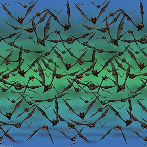 Bat Attack Swarm Halloween Scene Setter Room Roll Backdrop Party Decoration