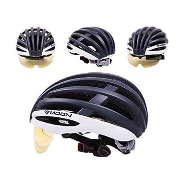 L.J.JZDY Casco de Ciclismo Gafas de Casco de Ciclismo Ultraligero ...