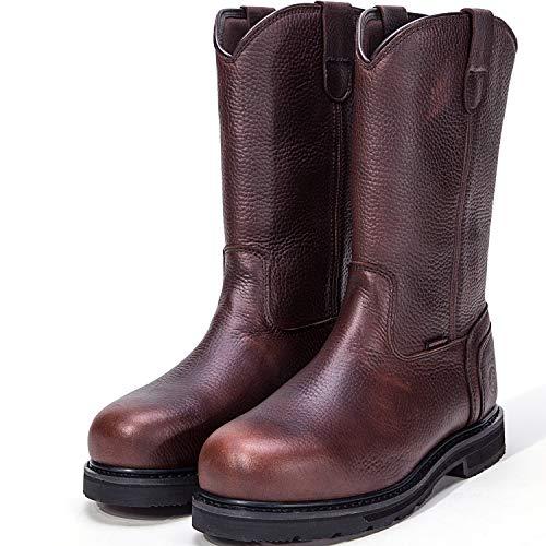 (ROCKROOSTER Men's Work Boots, Steel Toe, Waterproof Restraint, Kevlar Puncture Resistant, Width EE-Normal (AP860, US 11.5))