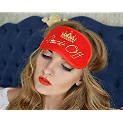 F*ck OFF Sleep Mask Crown Girl Mature Felt Eye Sleeping Mask Unisex Eyemask Embroidery Handmade Modern Gift Bedding Accessories M8