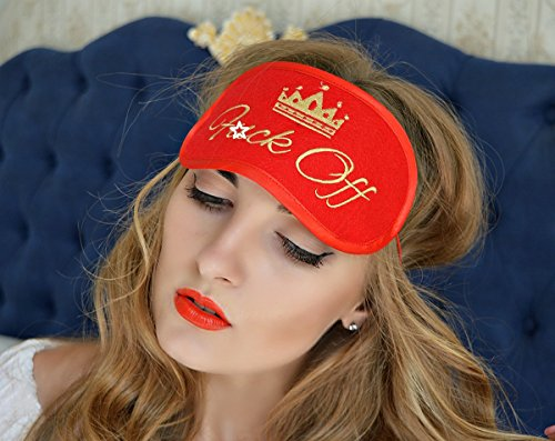 Price comparison product image F*ck OFF Sleep Mask Crown Girl Mature Felt Eye Sleeping Mask Unisex Eyemask Embroidery Handmade Modern Gift Bedding Accessories M8