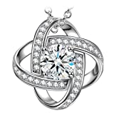 Sirila Satellite Series 925 Sterling Silver Women Necklace Pendant Cubic Zirconia Allergen-free Fine Jewellery Set Valentines Day Birthday Christmas Xmas Mothers Day Anniversary Wedding Gifts