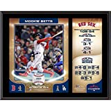 """Sports Memorabilia Mookie Betts Boston Red Sox 2018 MLB World Series Champions 12"""" x 15"""" Sublimated Plaque - MLB Player Plaques and Collages"""