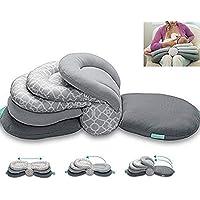 Baby Breastfeeding Pillow Nursing Pillow,Best for Mom,Adjustable Height (Gray)