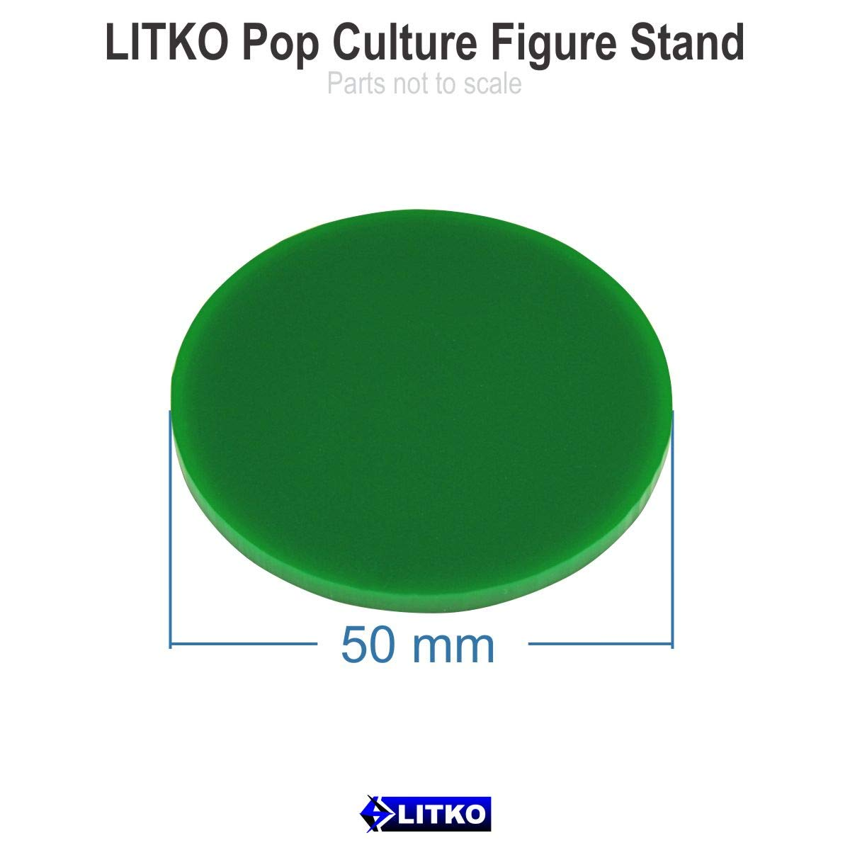 5 Black 2-inch Circle LITKO Pop Culture Figure Stands