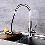 Centerset Ceramic Valve Nickel Brushed Kitchen faucet