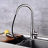 Centerset Ceramic Valve Nickel Brushed Kitchen faucet