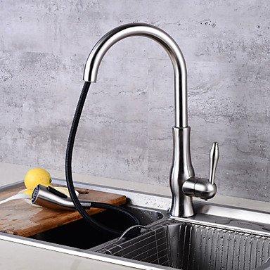 Centerset Ceramic Valve Nickel Brushed Kitchen faucet by Zheng