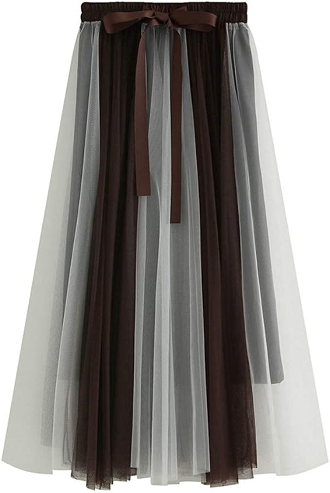 Gusspower Mujer Falda de Pastel Larga Vintage De Tul Plisada ...