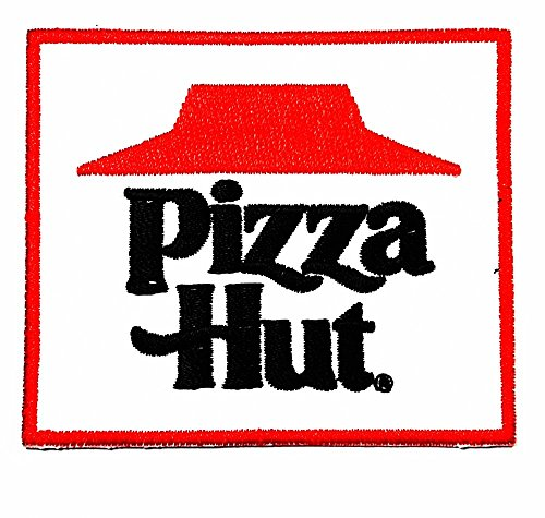 pizza hut words funny patch Embroidered Iron on Hat Jacket Hoodie Backpack Ideal for Gift / 8cm(w) X - Hut Price