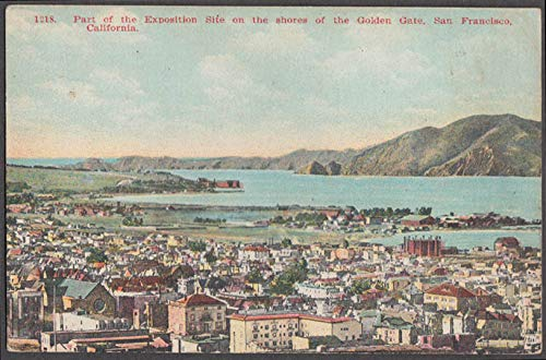 Golden Gate Exposition Site San Francisco CA postcard 1915