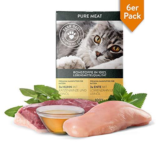 PETS DELI – NATURAL PET FOOD Nassfutter für Katzen in 85g Schalen | Fleisch oder Fisch | Vorratspackung | 0% Getreide, 0…