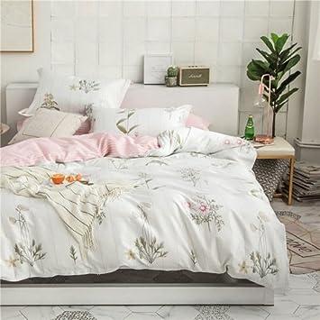 Wanglele Housse De Couette 100 Coton Queen Size Bed Sheet Set