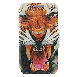 SHOUJIKE Kinston the Tiger Pattern PU Leather Full Body Case with Stand for iPhone 5/5S