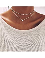 Jovono Fashion Multi - Layer - halsketting met liefhebbers choker voor vrouwen en meisjes