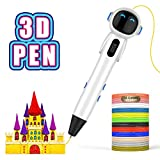 3D Pen, Intelligent 3D Printing Pen with LCD Display, 3 Speed Printing & Temperature Control 3D Printer Pen with USB Powered, Easy and Safe to Use 3D Pen for Kids and Adults