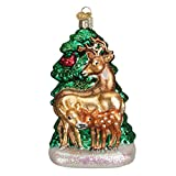 Old World Christmas Deer Family Glass Blown Ornament