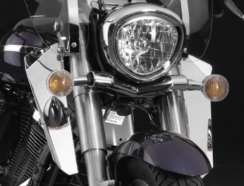 National Cycle N76602 Switchblade Chrome Lower Deflectors for Kawasaki - Switchblade Deflector Cycle National