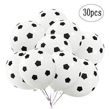 Amazon.com: BinaryABC - Globos de látex para fútbol, balón ...