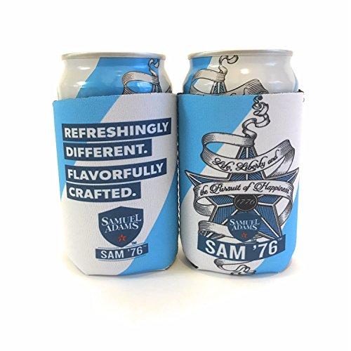 (Samuel Adams SAM '76 Bottle Can Cooler Insulator - 2 Pack)