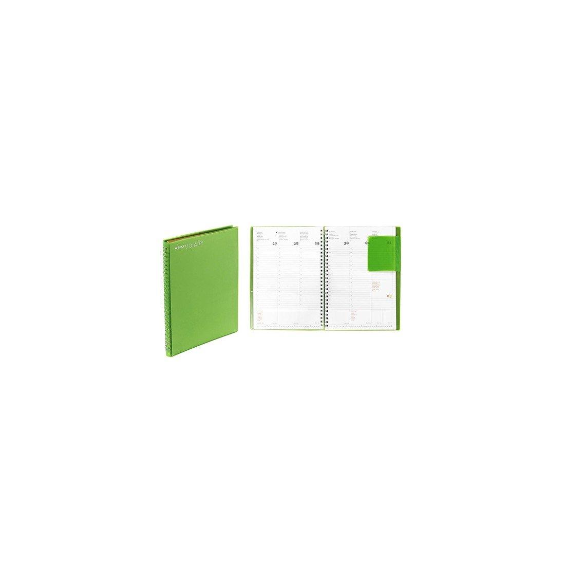 2019 AGENDA NAVA SETT. 17x24cm WORK 7 MEDIUM SPIRALE PVC GREEN