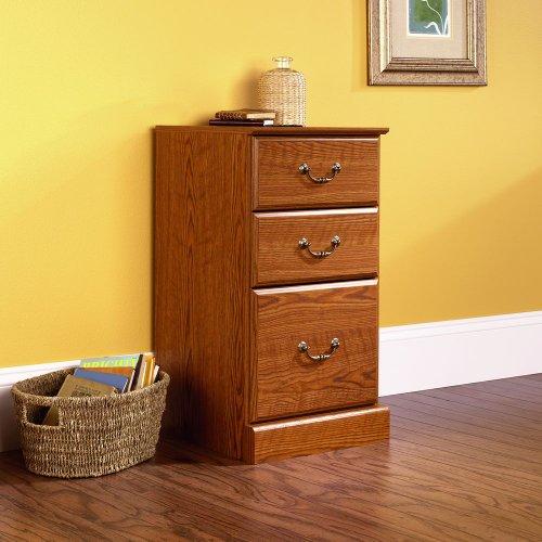 Sauder 3-Drawer Pedestal File Cabinet, Carolina Oak