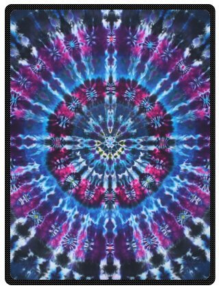 "Price comparison product image Hot Sell Super Soft Colorful Tie Dye Blanket 58"" x 80"" Fleece Blanket (Large)"