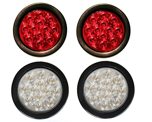 4In Round Led Tail Lights - 4