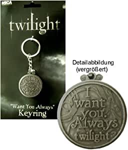 Twilight I Want You Always Keyring Keychain