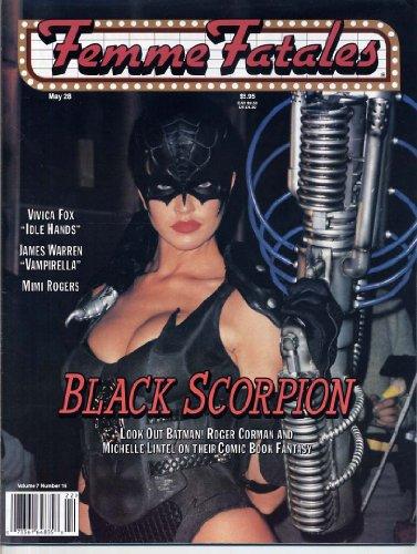 Femme Fatales Magazine BLACK SCORPION Michelle Lintel ALMEN WONG Vampirella SEXY PIN-UPS Sherrie Rose FEMME FATALES May 1999