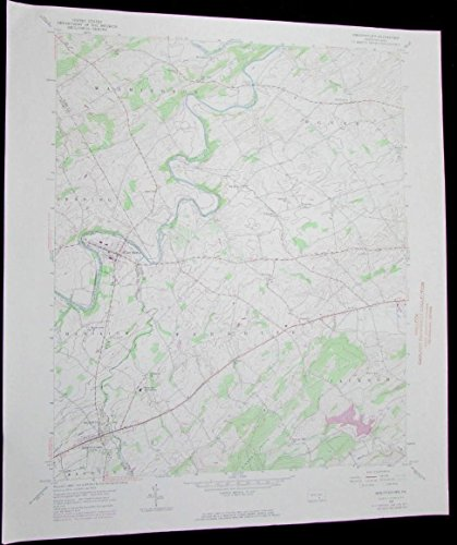 Abbottstown Pennsylvania Berwick vintage 1974 old USGS Topo chart