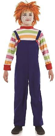 Disfraz para chico del muñeco diabólico para Halloween, de 4 a 12 ...