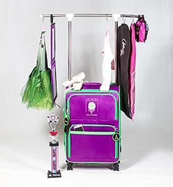 Amazon Com Dance Bag With Garment Rack Purple Travel Duffels