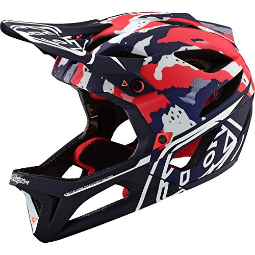 Troy Lee Designs Adult Full Face | Enduro | Downhill | Trail | Mountain Biking Stage Tactical Helmet with MIPS (Medium/Large, Red/White/Blue)