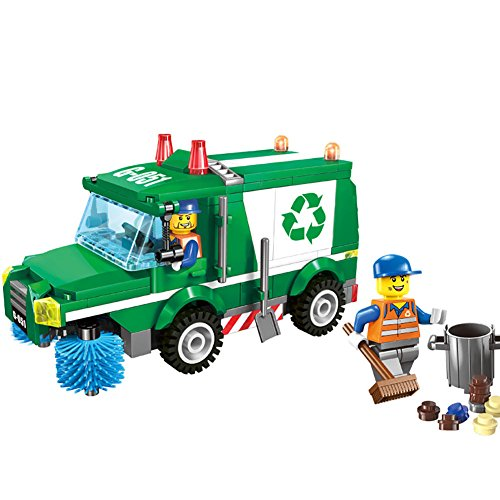gonggamtop Assembly Kid Trash Garbage Truck Brick Toy Child Educational Building Blocks