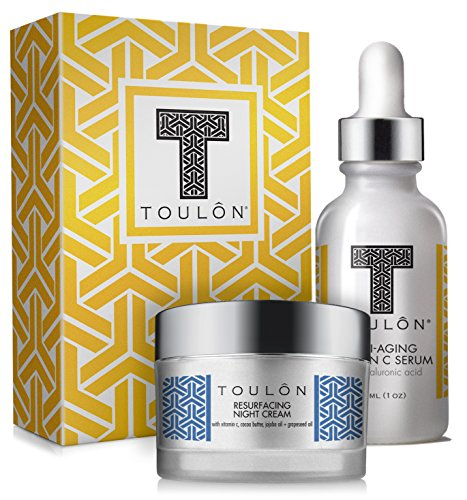 Vitamin C Anti Aging Skin Care Kits; Women Beauty Gifts: Vitamin C Serum with Hyaluronic Acid and Vit C Moisturizer for Face for Night & Day; Perfect Mother's Day Gift Set Kit
