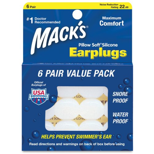 Macks Pillow Soft Silicone Earplugs Value Pack, 6 Count (Pack of 4)