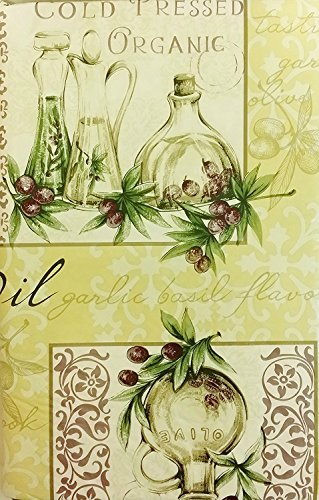 Tuscan Themed Vinyl Flannel BackTablecloths - Garlic and ...