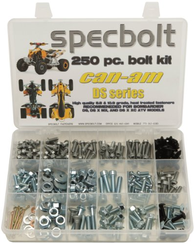 250pc-specbolt-can-am-bombardier-atv-bolt-kit-for-maintenance-restoration-for-the-ds-sport-mud-recre