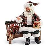 Department 56 Possible Dreams Winter Tweets Santa Figurine, 9.5', Multicolor