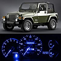 Partsam 6-Light SMD Blue LED Speedometer Indicator Package For 97-06 Jeep Wrangler